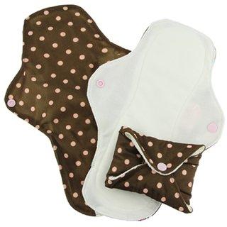 PinkDaisy Menstruations-Pad StayDry Gr. S Pink on Chocolate 3er-Set