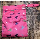 Cheeky Wipes Double Wetbag Pink Birds