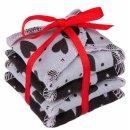 EH Moon Pads Mini Slipeinlage hearts grey/black 4er-Set