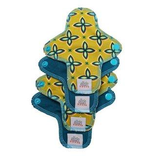 EH Moon Pads Mini Slipeinlage quarterfoil/deep sea 4er-Set Limited Edition