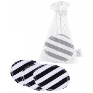 ZW waschbare Abschminkpads 10er-Set Black stripes