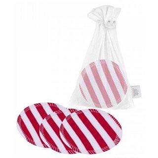 ZW waschbare Abschminkpads 10er-Set Red stripes