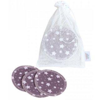 ZW waschbare Abschminkpads 10er-Set Lila Stars